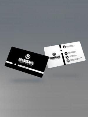 чернобяла визитка