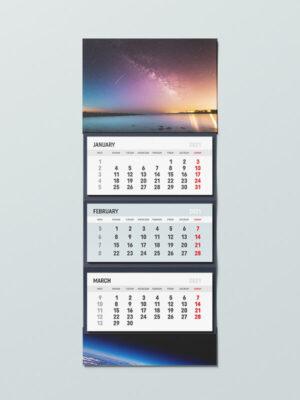 трисекционен работен календар